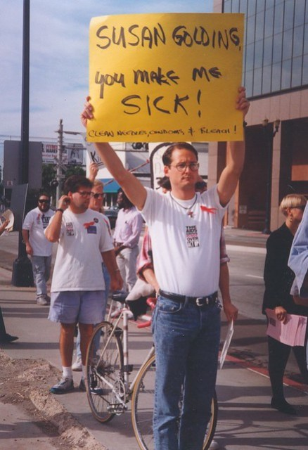 Act-Up protester,c.1992
