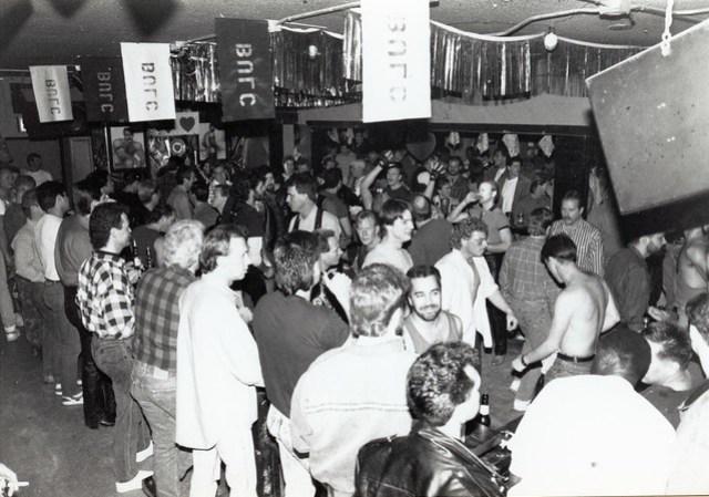 Interior of B.U.L.C. Leather Bar San Diego, c.1986
