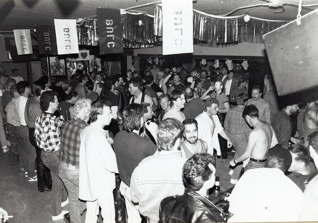 Interior of B.U.L.C. Leather Bar San Diego, c.1986