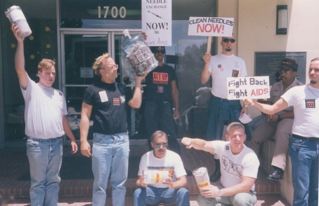 Act-Up protesters, c.1992