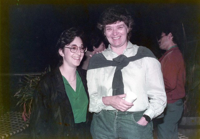 Nancy Ross(left)Jeri Dilno at Truax House event, 1989