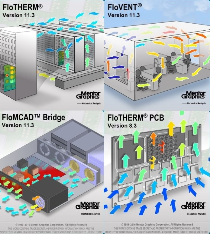 Mentor Graphics Flo-THERM-PSB-VENT-MCAD Suite 11.3 x86 full license