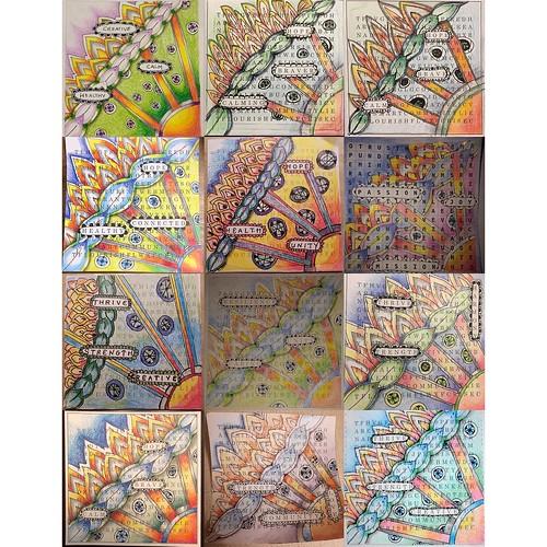 """Zentangle Unity Tile"" class tiles"