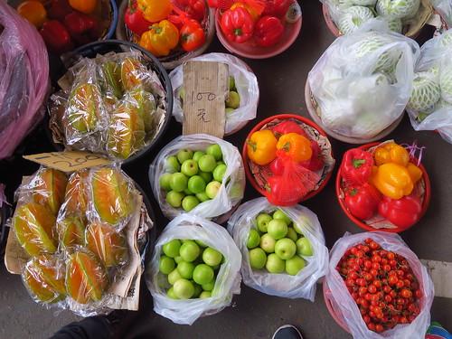 台南玉井青果集貨場:一籠一籠的蔬果賣給你