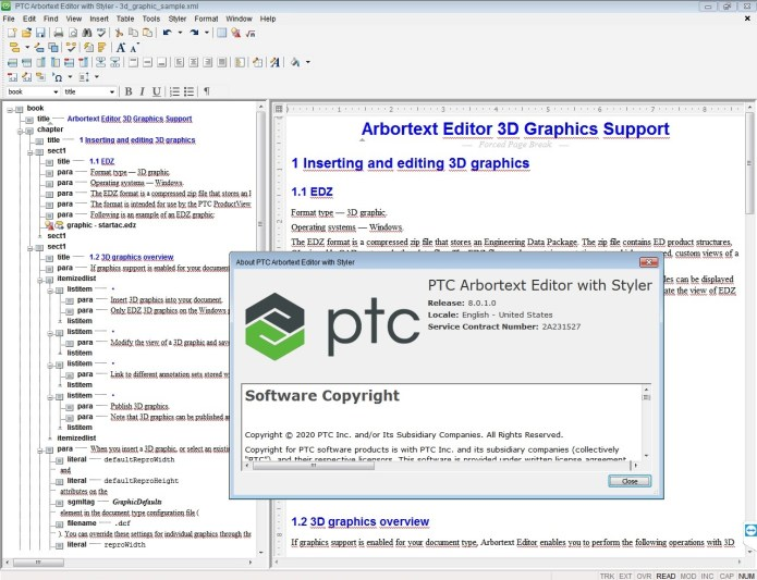 Working with PTC Arbortext Editor 8.0.1.0 full license