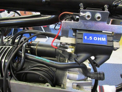 Left Side Coil Gets RED Wire From Ignition Control Unit & BROWN Ground Wire On Coil Bracket Bolt