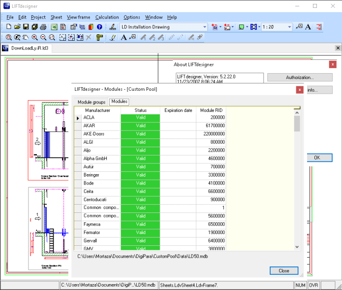 Working with LIFTdesigner 5.2.22 Corporate Suite full license