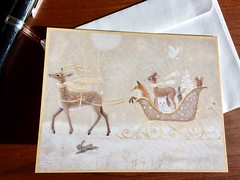 Winter Sleigh Ride Note Cards