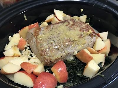Pork Loin with Vegies and Sauerkraut