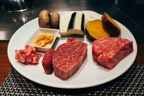 Tajima & Kobe beef at Plaisir, Kobe, Japan