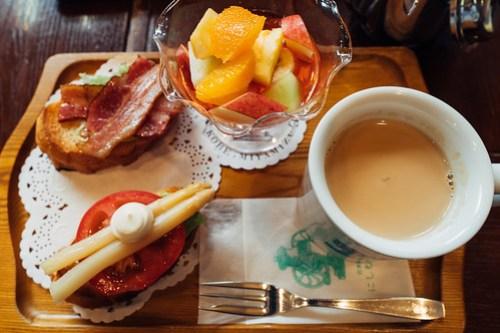 Brunch at Nishimura coffee, Kobe, Japan