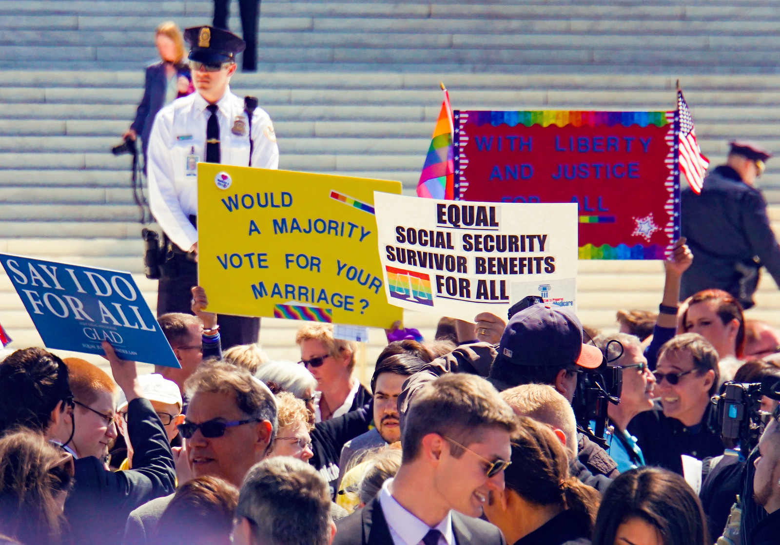 Photo: From this day in 2015 in front of SCOTUS: A majority wouldn't have voted for our marriage, we got it anyway