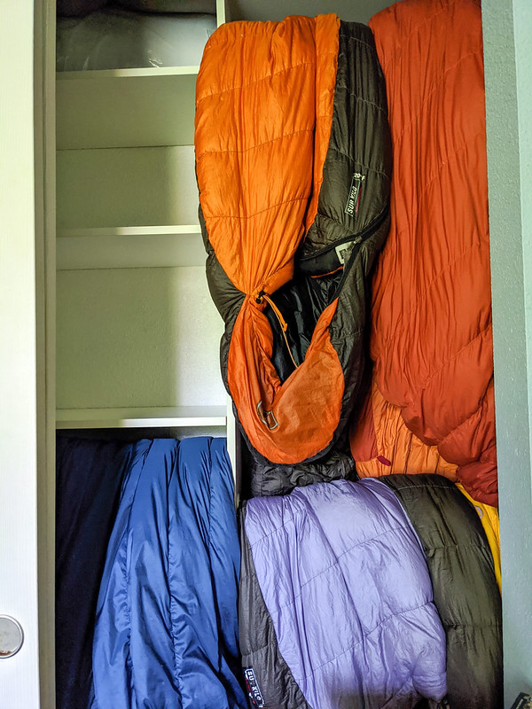 sleeping bag storage