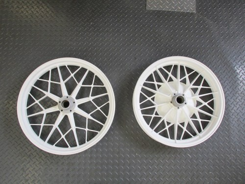 AFTER: Powder Coated Wheels in White