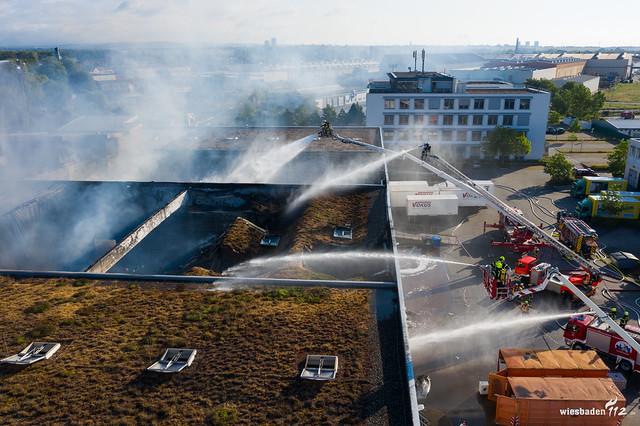 Lagerhallenbrand Gustavsburg 02.05.20