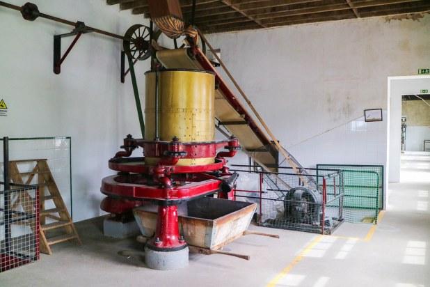 Interior de la fábrica Cha Gorreana en Sao Miguel