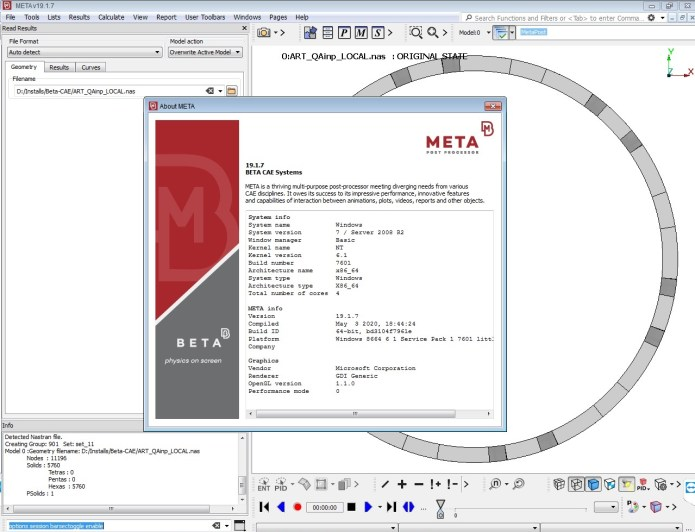 Working with BETA-CAE Systems v19.1.7 Meta full crack