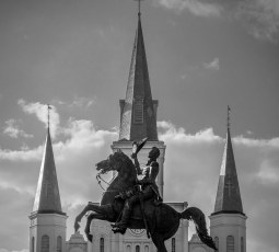 Andrew Jackson in front of St Louis Cathedral