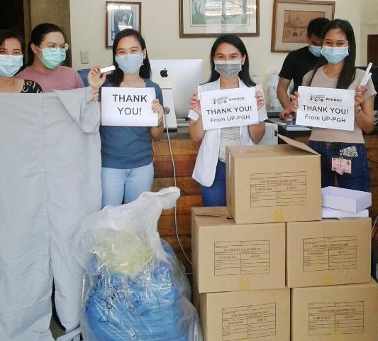 Careline Cosmetics Andrea Brillantes Donates to PGH Frontliners