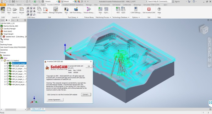 Working with InventorCAM 2020 SP1 HF1 for Autodesk Inventor 2018-2021 full license