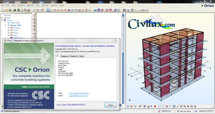 Working with CSC Orion 18.0 SP3 Standard full license