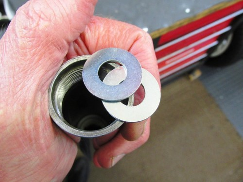 Flat Washers Go On Each Face Of 3/4 Inch PVC Spacer Pipe