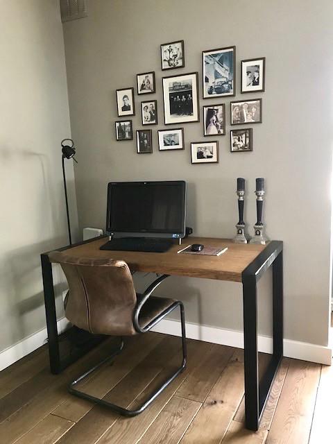 Bureau woonkamer fotomuur