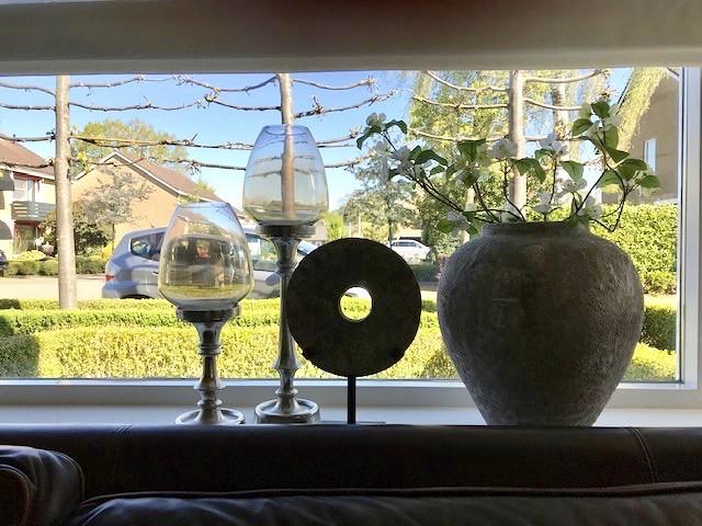Kruik ornament windlichten vensterbank decoratie