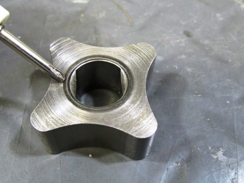Oil Pump Inner Rotor Chamfered Face-Goes Towards Engine Block