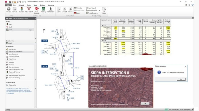 Working with Akcelik SIDRA Intersection 8.0.1.7778 full license