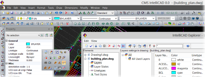 Working with CMS IntelliCAD 8.0.2569.0 Premium Edition + VC9 x64 full