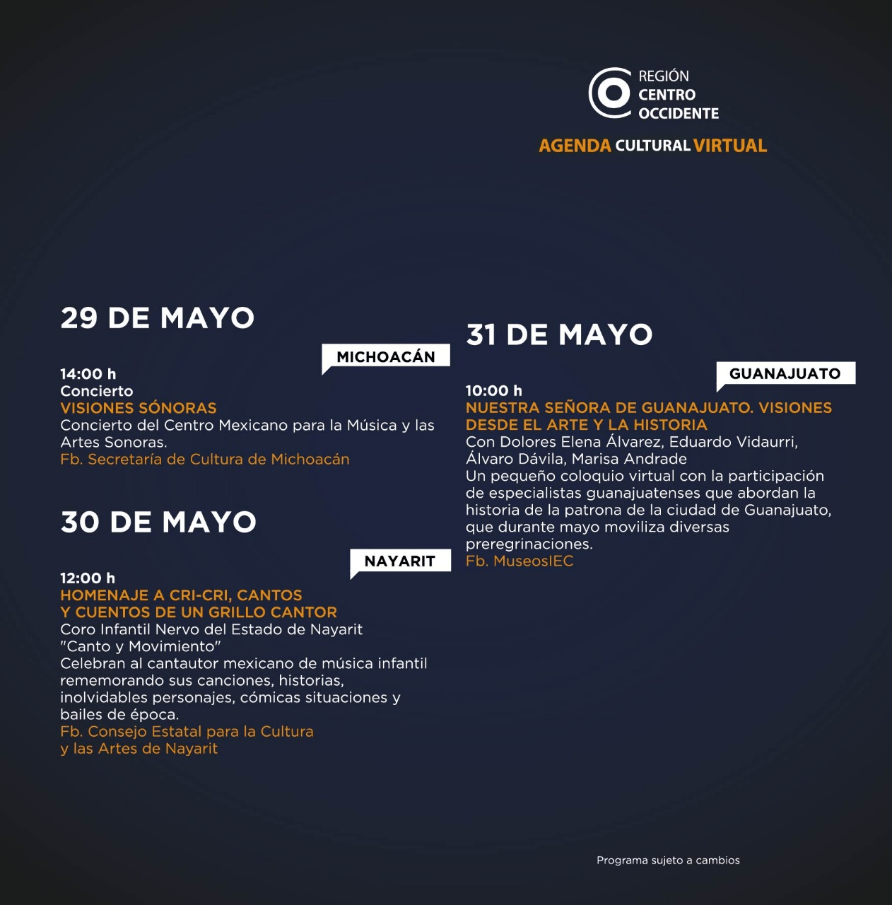 Agenda Centro Occidente 4