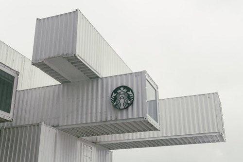 Containers-style Starbucks, Hualien, Taiwan