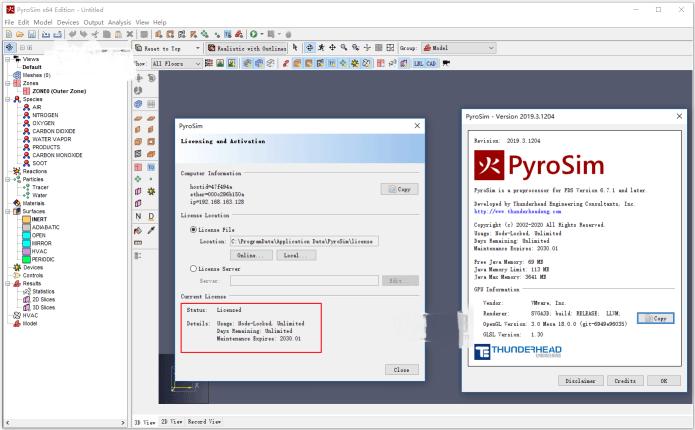 Working with Thunderhead Engineering PyroSim 2019.3 full license