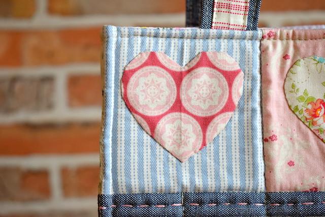 Applique Hearts Boxy Bag (online class)