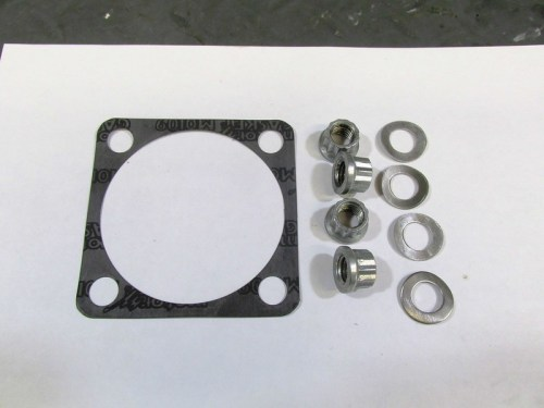 Rear Drive Hardware Detail-Gasket, 12-Sided Nuts and Wave Washers