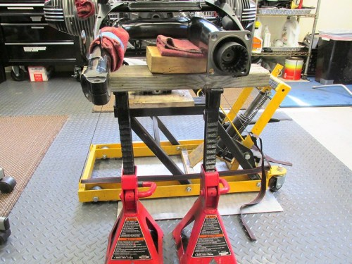 Using Jack Stands & 2x4s To Support Swing Arm