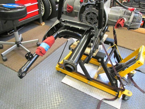 Swing Arm Installed In The Frame