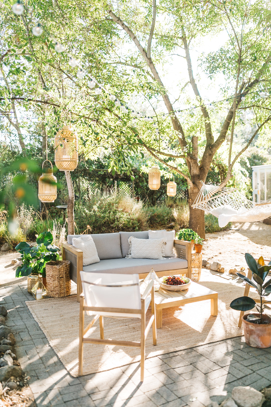 creating a cozy outdoor oasis at