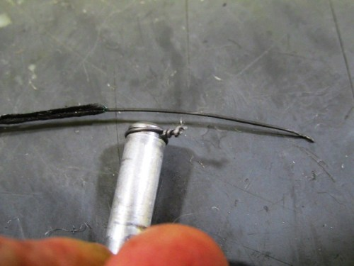 Use Garden Wire To Replace Broken Snap Ring