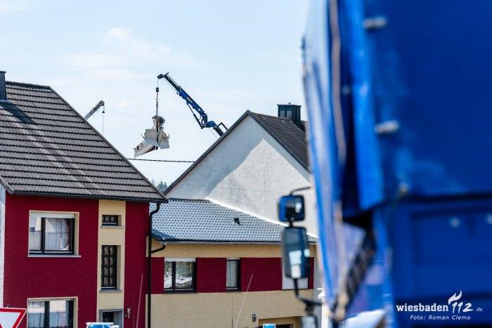 Bergung des Flugzeugwracks Langenhahn 03.06.2020