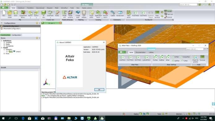 Working with Altair HW FEKO + WinProp 2020.0 Win64 full license