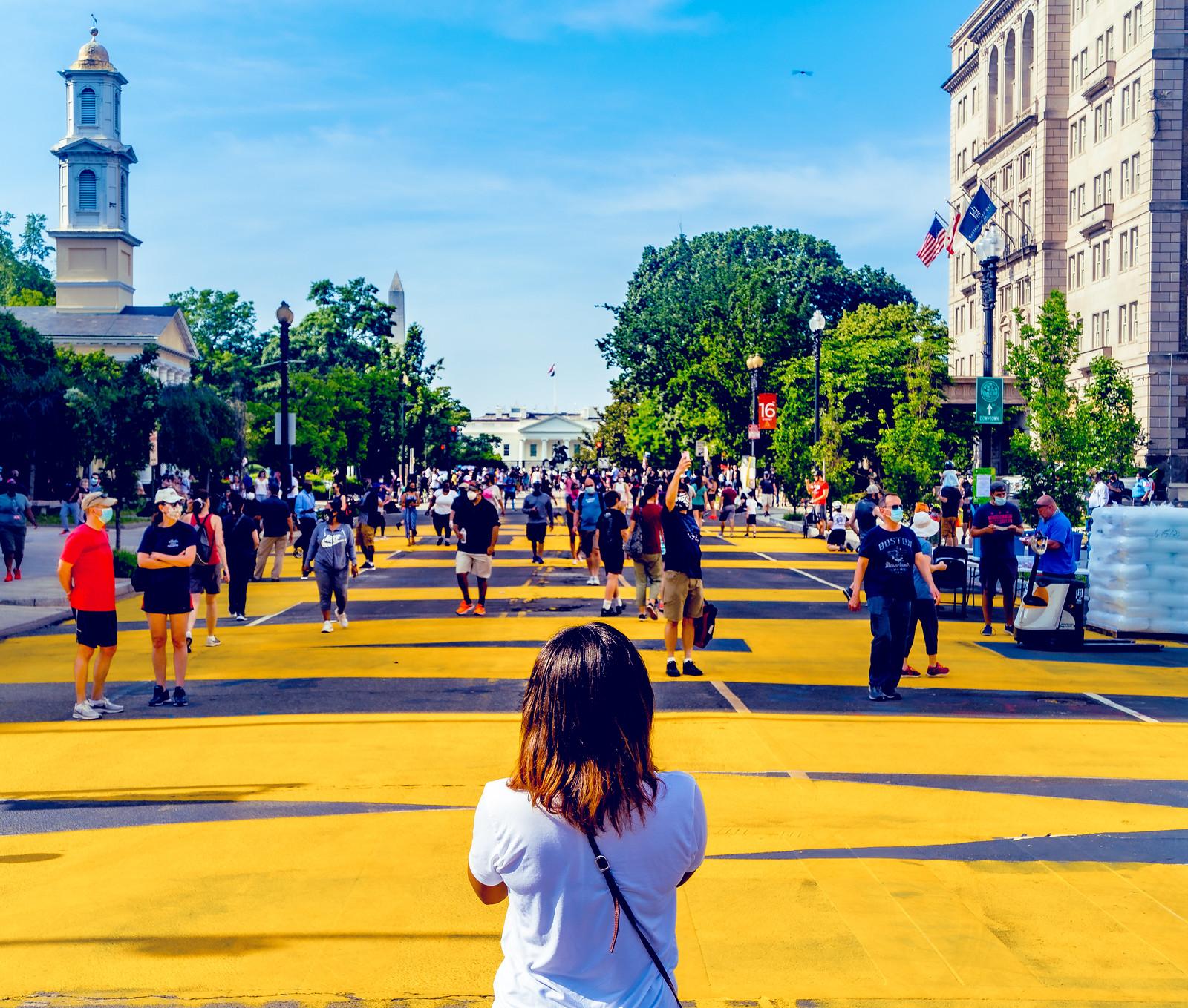 Photos: Black Lives Matter Plaza, Washington, DC USA