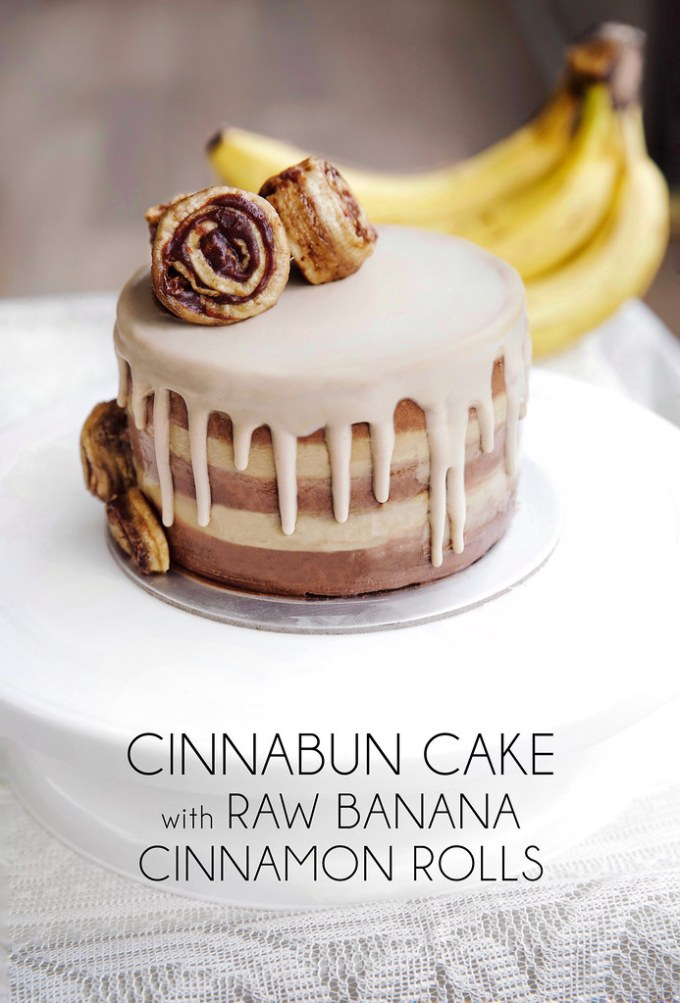 Cinnabun Cake with Raw Banana Cinnamon Rolls