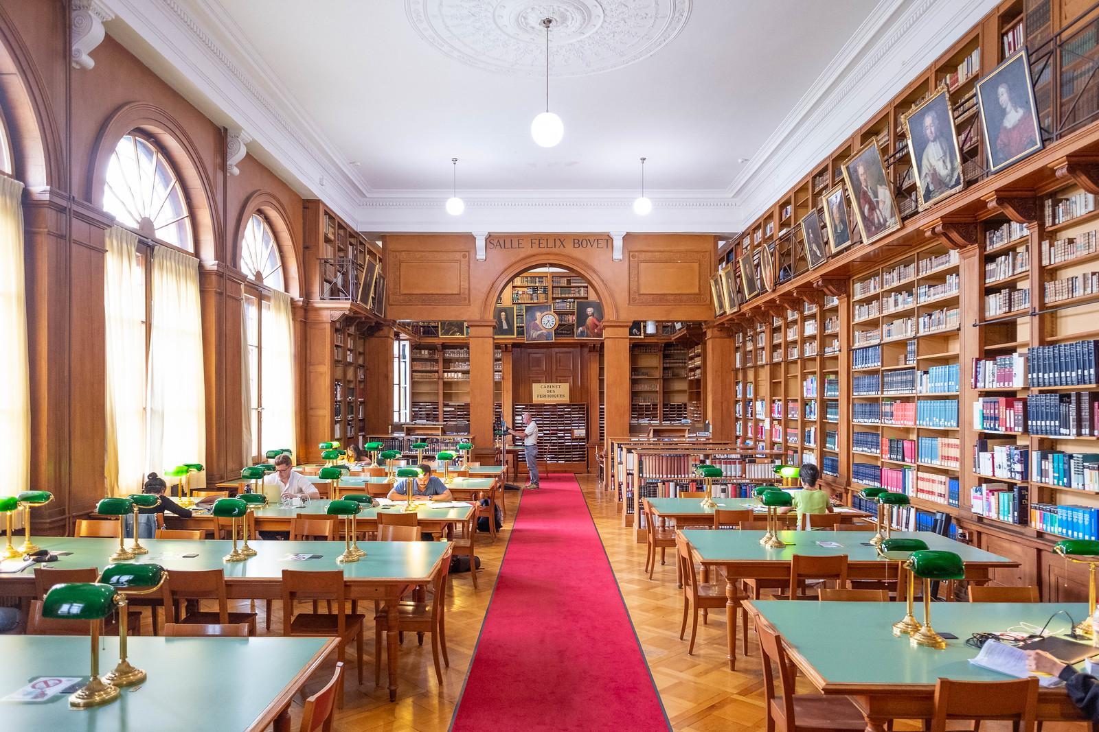 Bibliothèque Publique et Universitaire, Neuchâtel. Salle Félix Bovet