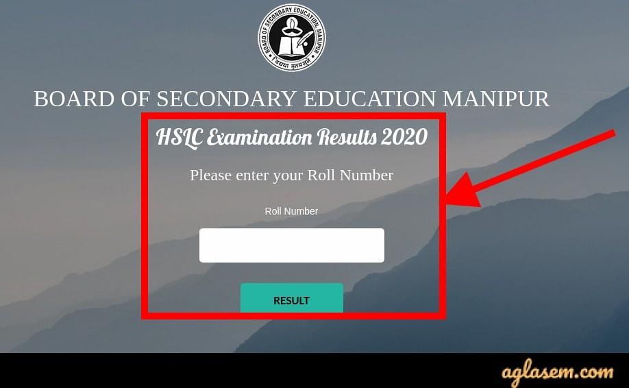 Manipur HSLC result 2020