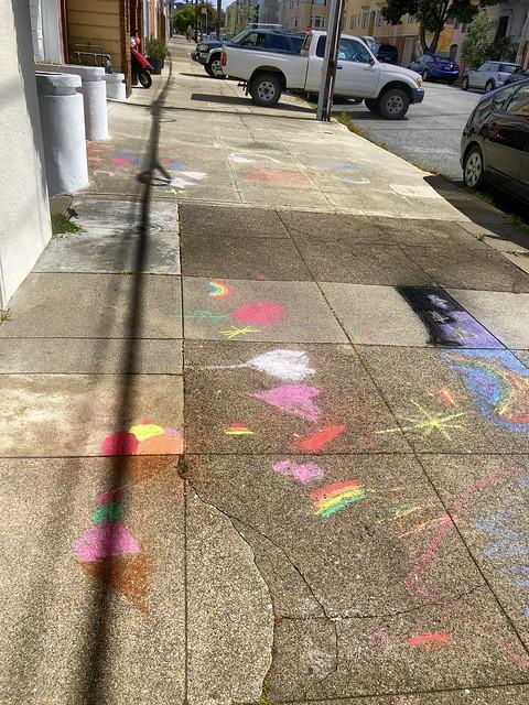 sidewalk chalk'd