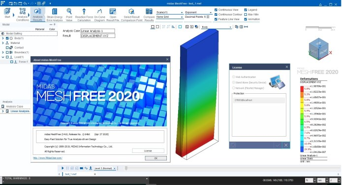 Working with midas MeshFree 2020 R1 full license