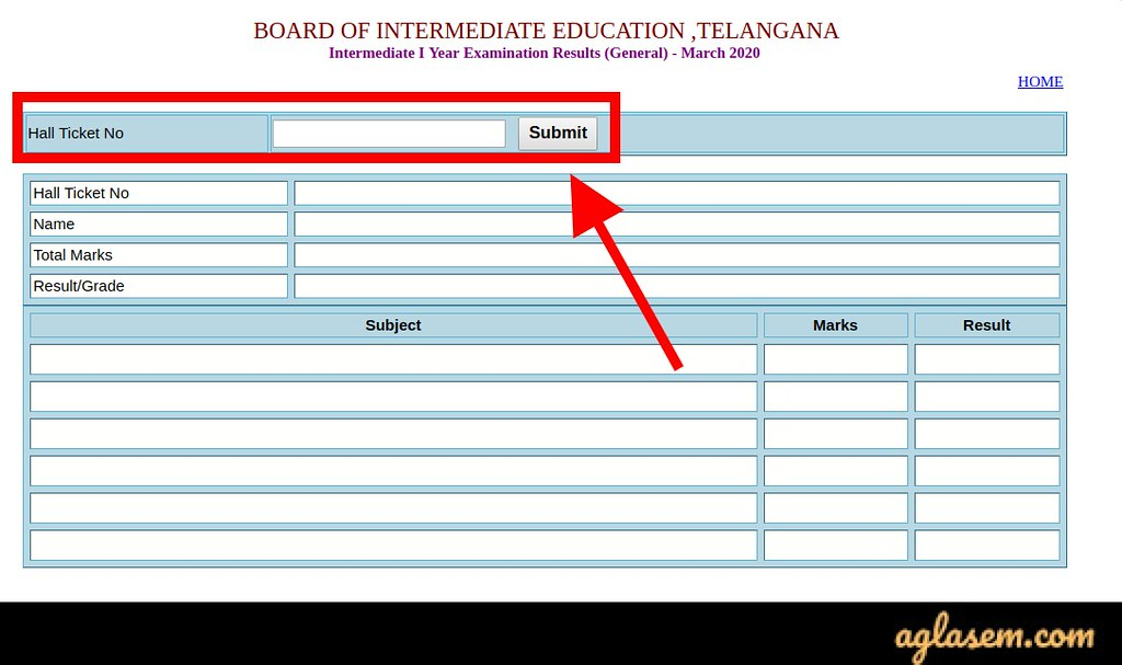 TS Inter 1st Year Results 2020 login