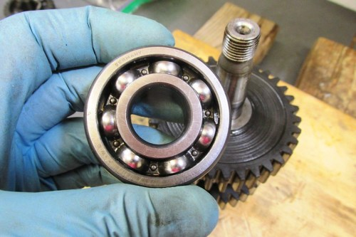 Rear Ball Bearing Removed-Outside Face Towards Taper